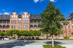 Campus Charite Mitte of Charite Universitatsmedizin Berlin, Germ. BERLIN, GERMANY - JULY 1, 2014: The Charite Universitatsmedizin Berlin, Europe`s largest Royalty Free Stock Photos