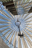 BERLIN, GERMANY - JULY 2015: Glass ceiling of Sony Center on Jul. Y 26, 2014, in Potsdamer Platz in Berlin Mitte Stock Photos