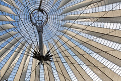 BERLIN, GERMANY - JULY 2015: Glass ceiling of Sony Center on Jul Royalty Free Stock Images