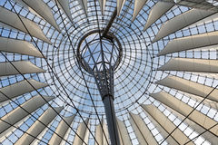 BERLIN, GERMANY - JULY 2015: Glass ceiling of Sony Center on Jul Stock Photos