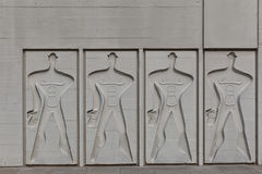 BERLIN, GERMANY - JULY 2014: The Modular Man on a side wall of C Royalty Free Stock Photography