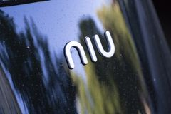 Niu electric scooter royalty free stock photo