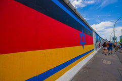 BERLIN, GERMANY - JUNE 06, 2015: Berlin wall actually is a white paper for people to express theirselves, on the wall Stock Photo