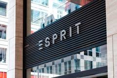 Esprit logo on store exterior / shop facade in Berlin royalty free stock photography