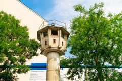"The so-called ""panoramic observation tower` left from the cold war days in Berlin. royalty free stock photo"