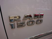 RAM 1500 Truck. Berlin, Germany - June 27, 2018: RAM 1500 Truck. Ram Truck Division, is an American brand of light to mid-weight commercial vehicles, subsidiary stock image
