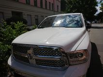 RAM 1500 Truck. Berlin, Germany - June 27, 2018: RAM 1500 Truck. Ram Truck Division, is an American brand of light to mid-weight commercial vehicles, subsidiary royalty free stock photos
