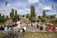 Basketball Game at Mauerpark Berlin Stock Photography