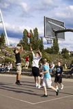 Basketball Game at Mauerpark Berlin Stock Photos