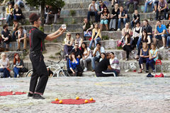 Street Performer at Mauerpark Amphitheater Royalty Free Stock Photography