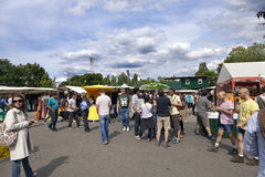 Sunday at Mauerpark Flea Market Berlin Germany Stock Images