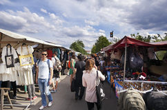 Mauerpark Flea Market Clothing Shops Aisle Royalty Free Stock Image