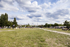 Sunday at Mauer Park Berlin Germany Stock Image