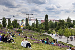 Sunday at Mauer Park Berlin Germany Royalty Free Stock Photo