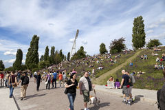 Sunday at Mauer Park Berlin Germany Stock Images