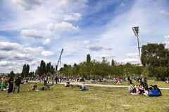 Sunday at Mauer Park Berlin Germany Stock Photography