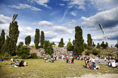 Sunday at Mauerpark Berlin Germany Royalty Free Stock Photo