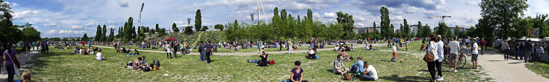 Mauerpark Flee Market Sunday Panorama Royalty Free Stock Photography