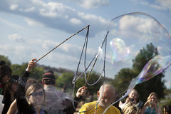 Making Soap Bubbles at Mauerpark Stock Photography