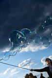 Making Soap Bubbles at Mauerpark Royalty Free Stock Photo