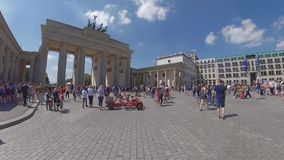Time Lapse Walk To Brandenburger Tor In Berlin, Germany In Summer stock footage