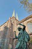 berlin germany kirche nikolai Royaltyfri Foto
