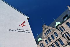 Berlin Germany, maison de Bertolt Brecht Image stock