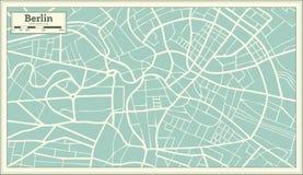 Berlin Germany Map nel retro stile Fotografia Stock Libera da Diritti