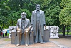 BERLIN, GERMANY. Marx and Engels`s forum in the park Stock Photo