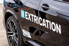 Extrication vehicle royalty free stock photography