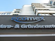 Ecomex company signage stock photo