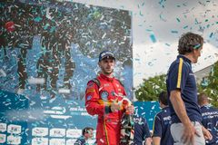 Daniel Abt at the E-Prix FIA Formula E 2016 Award Ceremony. Berlin, Germany - May 21, 2016: German racing driver Daniel Abt at the E-Prix FIA Formula E race car royalty free stock image