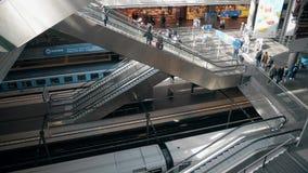 BERLIN, GERMANY - MAY 1, 2018. Hauptbahnhof or Main railway station interior. BERLIN, GERMANY - MAY 1, 2018 Hauptbahnhof or Main railway station Royalty Free Stock Photography