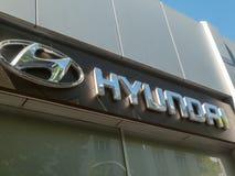 Hyundai car dealership. Berlin, Germany - May 6, 2018: Hyundai car dealership exterior. The Hyundai Motor Company is a South Korean multinational automotive stock images