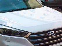 Hyundai car. Berlin, Germany - May 3, 2018: Hyundai car emblem. The Hyundai Motor Company is a South Korean multinational automotive manufacturer stock photo