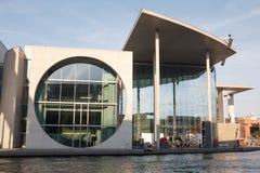 Modern architecture in Berlin, Paul-Lobe-Haus. BERLIN, GERMANY - MAY 17, 2017: Modern architecture group of buildings in the government quarter Regierungsviertel Stock Photography
