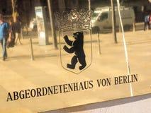 Abgeordnetenhaus of Berlin nameplate Royalty Free Stock Image