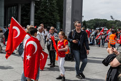 Berlin, Germany - May 28, 2016: Turkish groups protest vote on Armenian genocide resolution. Stock Images