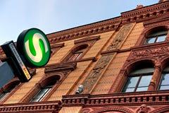 berlin germany metrostation arkivfoto