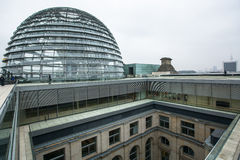 BERLIN, GERMANY -  Modern dome on the roof of the Reichstag. Royalty Free Stock Photos