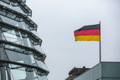 BERLIN, GERMANY - Modern dome on the roof of the Reichstag. Stock Images