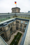 BERLIN, GERMANY -  Modern dome on the roof of the Reichstag. Royalty Free Stock Image