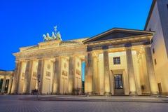 Brandenburg Gate - Berlin - Germany. Night scene at Berlin Brandenburg Gate, Germany stock photos