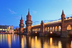 Oberbaum bridge - Berlin - Germany Stock Image