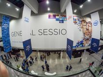 Main entrance to  NetApp Insight 2017 conference in Messe Berlin Royalty Free Stock Photos