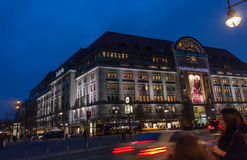 BERLIN, GERMANY - NOVEMBER 12, 2014: Buyers aim to Kaufhaus Des Stock Image