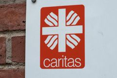 Emblem of the German Association Caritas Royalty Free Stock Photo