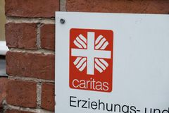 Emblem of the German Association Caritas Stock Images