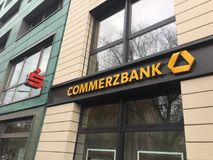 Commerzbank branch stock photo