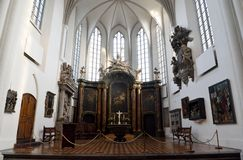 Interior view of Marienkirche church in Berlin, Germany stock images